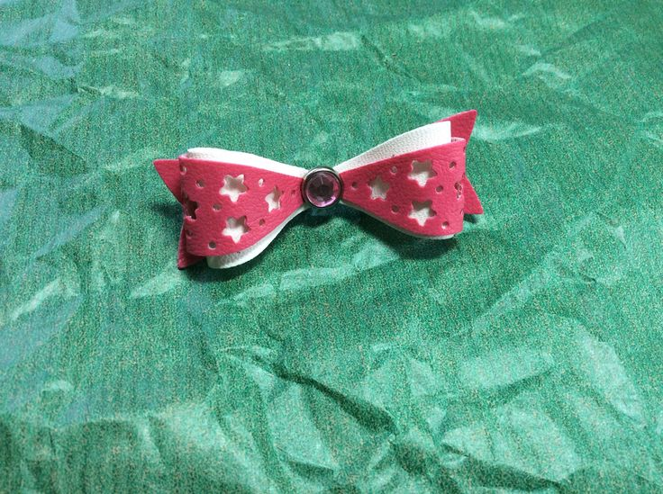 Pin bow pink faux leather, joy! crafts
