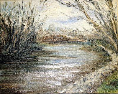Brandywine River, 8x10 oil by Annie Strack $195