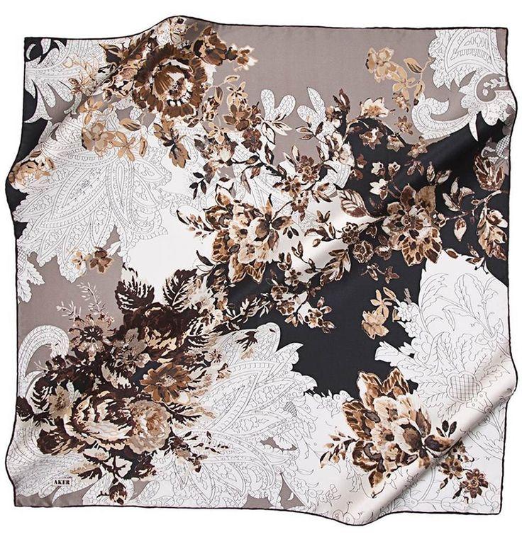 Aker Pure Silk Turkish Hijab Scarf 100 x 100cm #6707 331