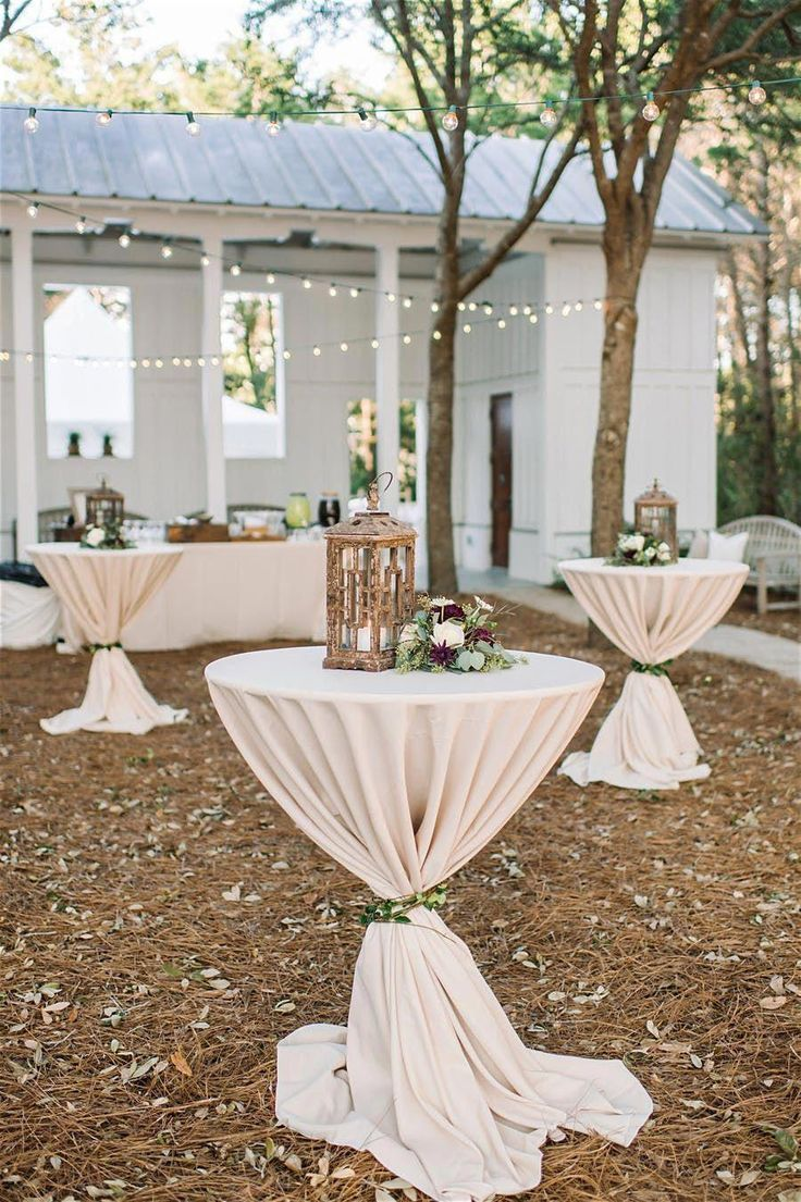 Outdoor Cocktail Table Decor Hour Wedding Decorations