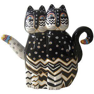 Westland Giftware Zig Zag Cats Teapot