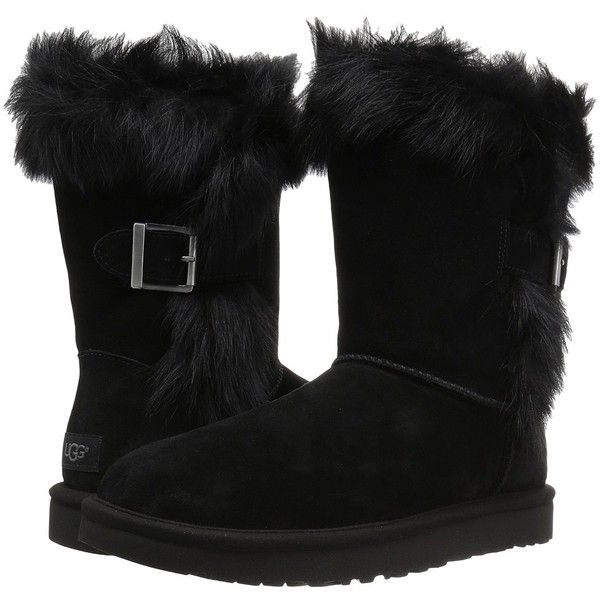 5d9e28835ed UGG Deena (Black) Women's Cold Weather Boots ($198) ❤ liked on ...