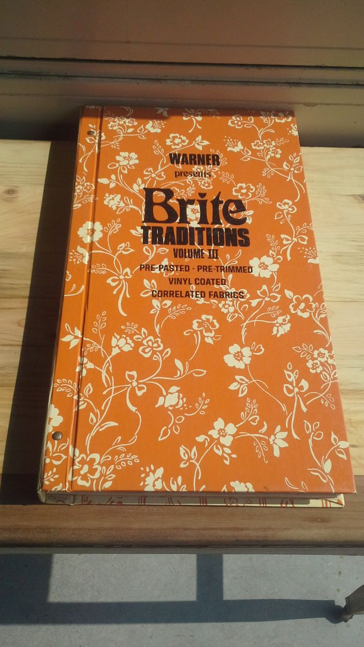 """Vintage """"Brite"""" Wallpaper Sample Book w/ Fabric Samples by VintageRelics802 on Etsy"""