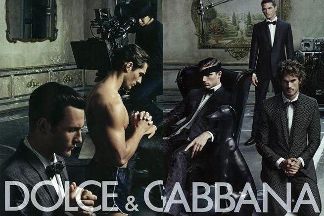 Рекламная кампания мужской коллекции Dolce&Gabbana весна-лето 2009