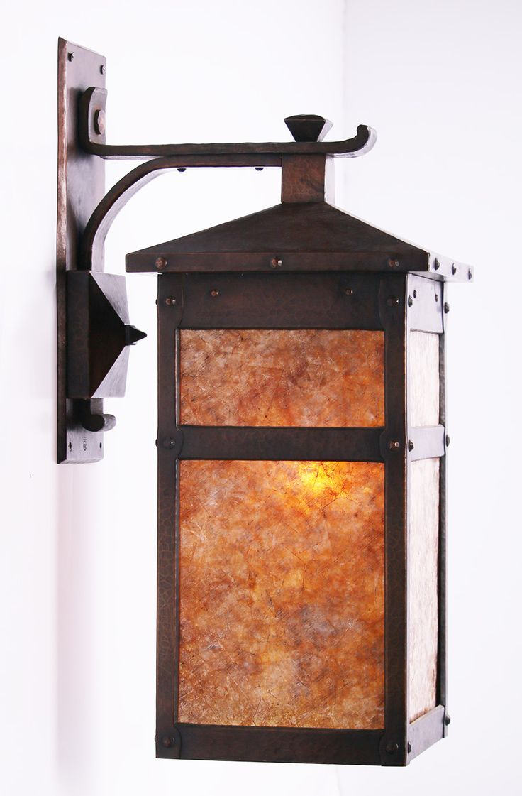 Extremely Rare Roycroft Lantern |  c.1913 | Made for The Grove Park Inn, Asheville, NC | 9.5″w x 12.5″d x 23″h