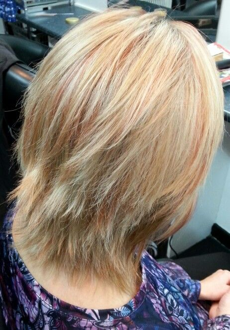 blonde and copper foils