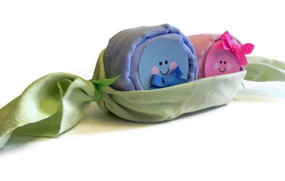 Twin Peas in a Pod Diaper Babies centerpiece baby by BabyBinkz