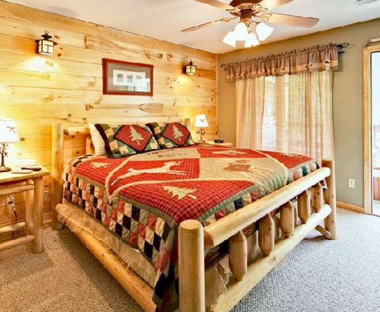 rustic bedroom available at