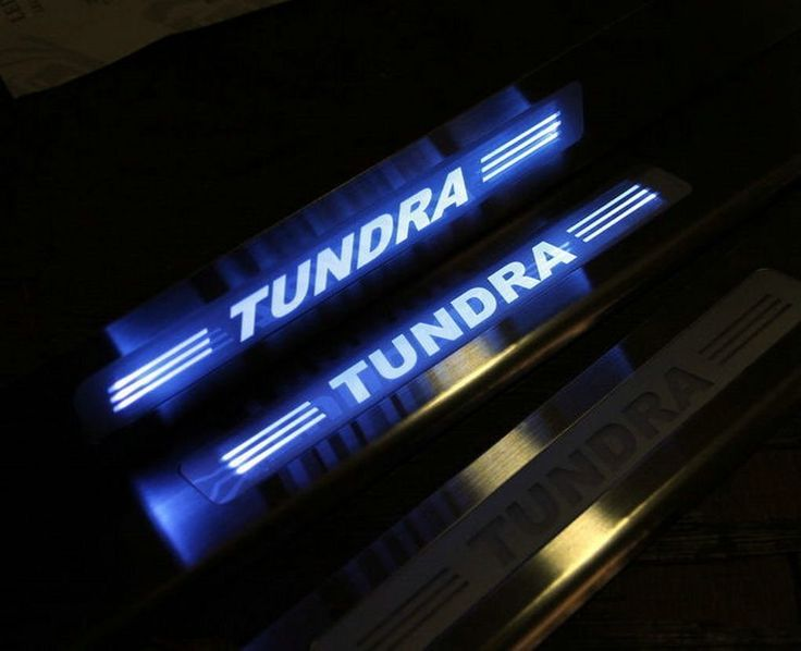 Upgrade LED Light Illuminated Door Sill Scuff Plate Cover for 2008-2015 Toyota Tundra