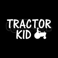 TRACTOR KID Sticker Farmer Boy Vinyl Decal Chicken Dairy Pig Cow Crops Corn Farm