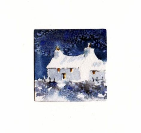 Hand Painted Card - Welsh cottage a3 by WendyPowellJonesArt on Etsy