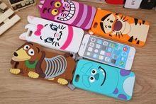 3D kreslený zviera Monsters Sulley Tigger Marie / Alice Cat, Slinky pes silikónové puzdro Cover pre iPhone 4 4S 5S 5 6 Plus telefón prípadoch (Čína (pevninská časť))