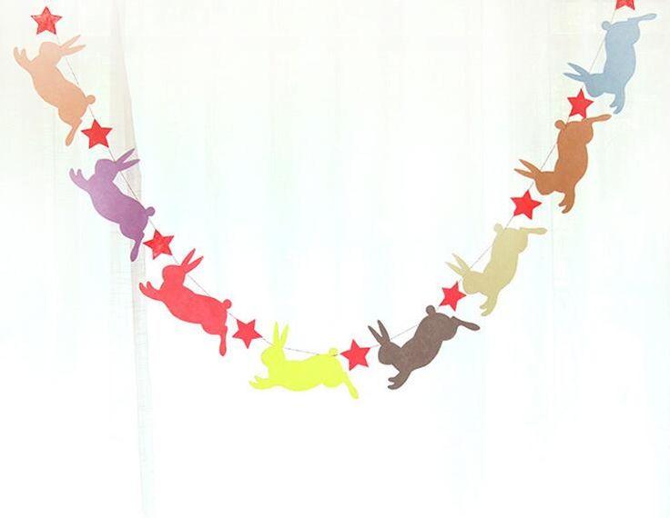 Kleurrijke konijn non wovens Vlag Party bell guirlande Decoratie Banner Bunting voor verjaardag bruiloft evenement Groothandel in perfect voor een bruiloft, anniversary, verjaardag, of andere partij.naam: Party vlagmateriaal: non-wovensma van   op AliExpress.com   Alibaba Groep