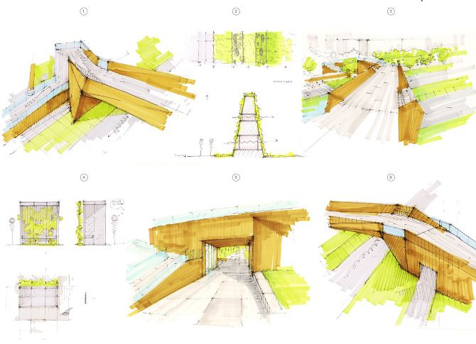 Mateusz Morski /Szkice koncepcyjne / concept sketches / architecture / www.mateuszmorski.com