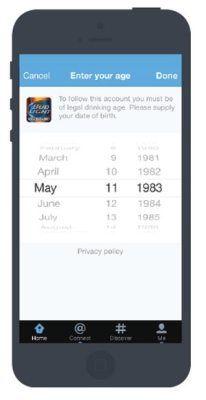 Twitter mejora la experiencia de la consulta de edad para seguir marcas de bebidas alcohólicas