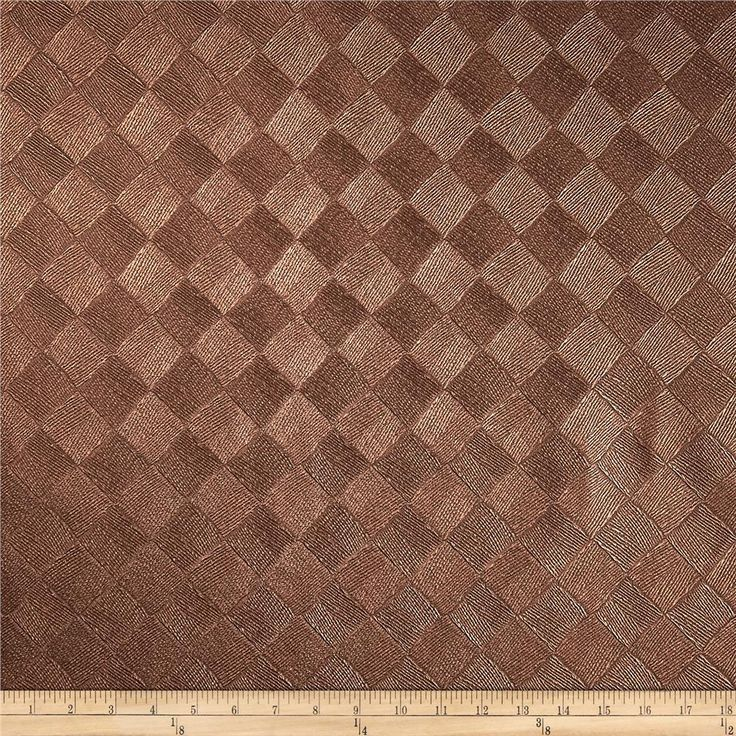 """Richloom Faux Leather Diamonds  Zeller Bronze from @fabricdotcom  This upholstery weight faux leather fabric has a polyester fleece backing, an embossed texture face and a low luster metallic look. It can be used for upholstery projects, picture frames, pillows, headboards craft projects, purses, fashion accessories and more!  California residents click <a href=""""http://prop65.fabric.com/"""">here</a> for Proposition 65 information."""