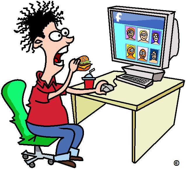 Grazing at the facebook table a health hazard ?   Read more.