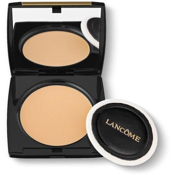 Lancome Dual Finish Multi-Tasking Powder & Foundation in One. All Day... found on Polyvore