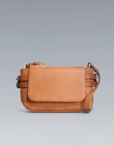 messenger bag with buckles from zara