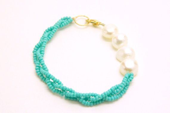 Braided seed beads. I could probably DIY this with all my seed beads :)