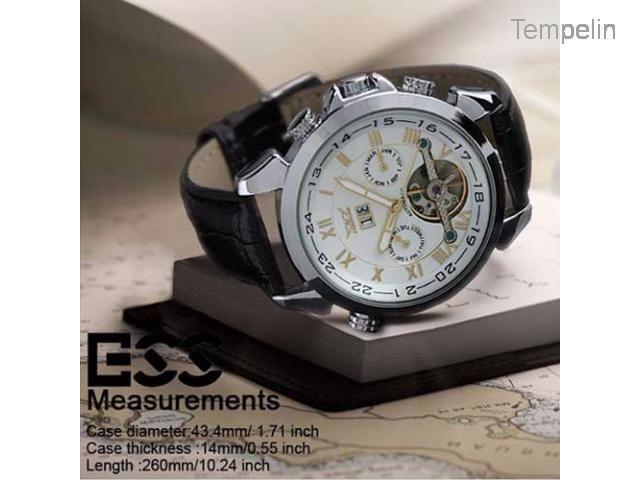 Jam Tangan Pria Otomatis Ess Luxury Men Leather Strap Automatic - Wm184-ESS