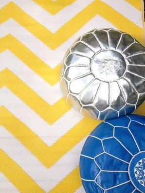 Chevron Yellow Mat