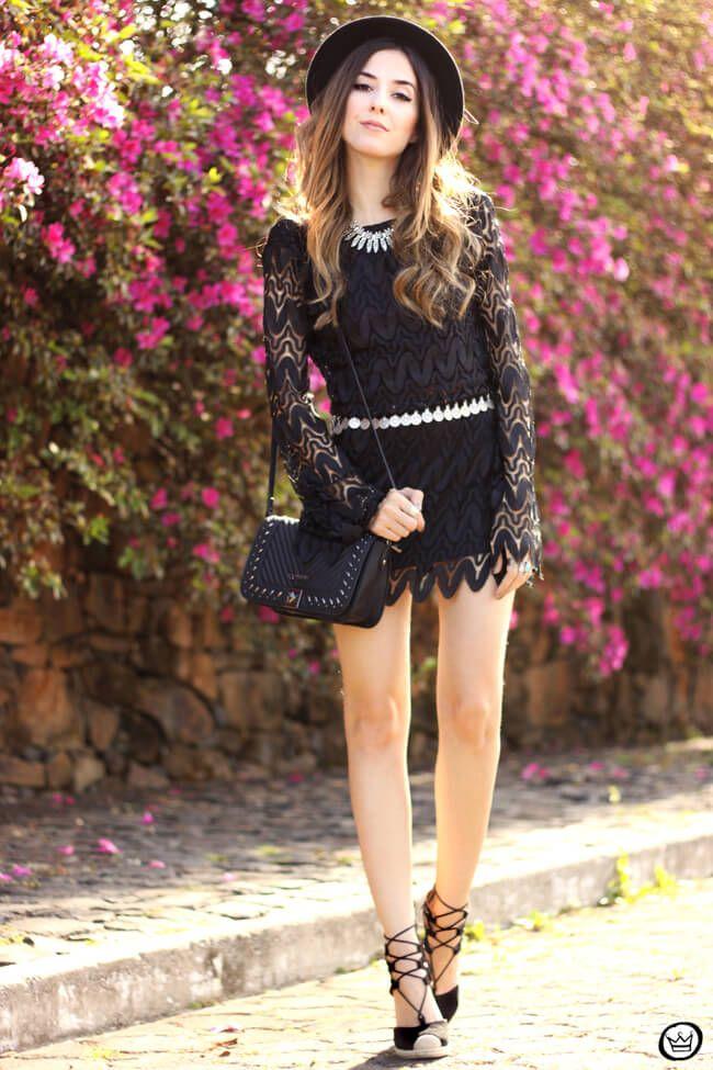 FashionCoolture - 08/24/2015 look du jour Moikana boho outfit black dress hat (1)