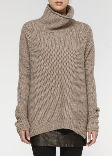 My favoured kind of hand knits- Simple in luxe yarn.
