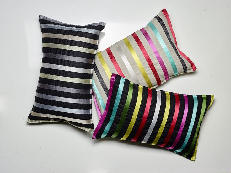 Pencil Stripes range of Cushions by LUXOTIC