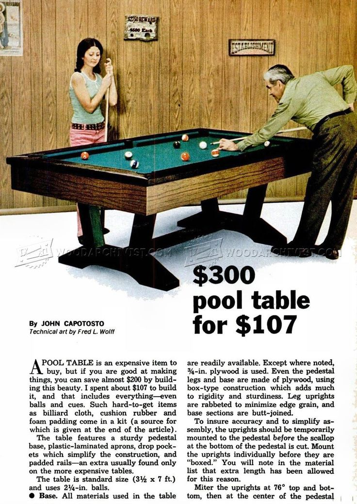 Pool table plans woodworking plans diy pinterest for Pool table woodworking plans