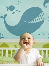 Sticker enfant Zanimaux de la mer par Diane Morel