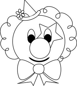 Clown Clipart Image - Clown Face Coloring Page - ClipArt Best - ClipArt Best