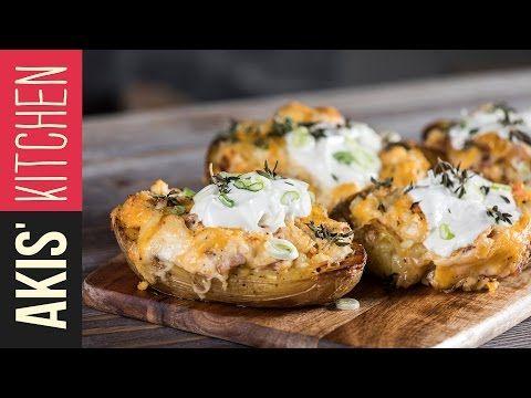 Roasted Cheese stuffed Potatoes | Akis Kitchen - YouTube