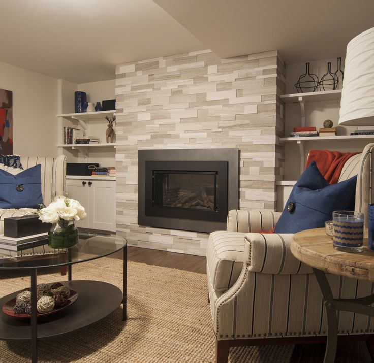 Valor H4 Series and @ErthCOVERINGS fireplace focal wall - Income Property, HGTV @Scott Doorley McGillivray