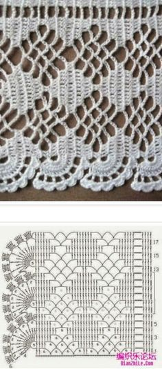 large crochet edging mami pinterest gardinen h keln gardinen und h keln anleitung kostenlos. Black Bedroom Furniture Sets. Home Design Ideas