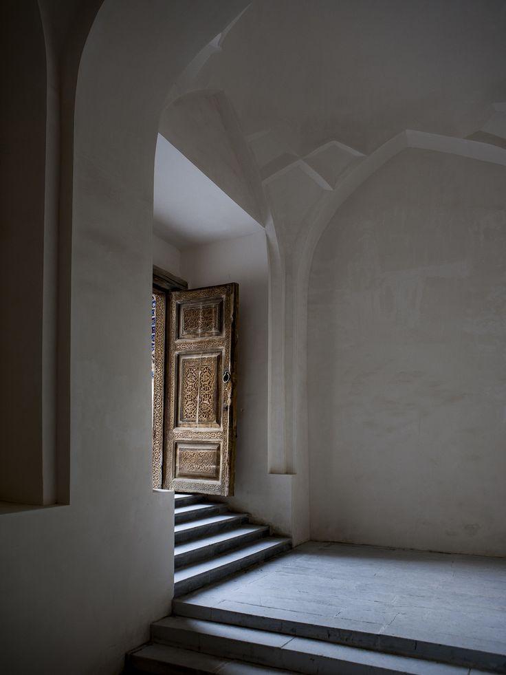 https://flic.kr/p/BK2bST |  Exit Door #door #exit #white #brown #shapes #shadows #light #nuances #steps #grey #wayoutside