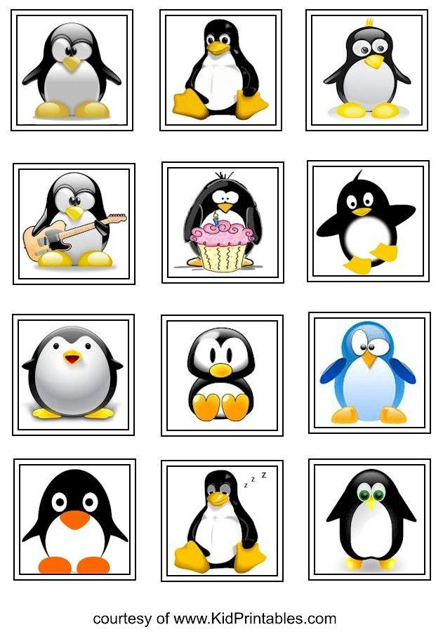 penguin printable stickers for kids   Fun Kid Printables   Pinterest