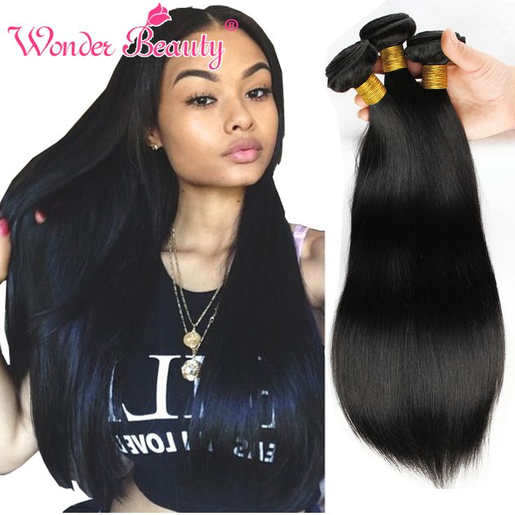 Wonder Beauty Weave Products Virgin Har Indian Straight Silk 4 pcs Milky Way Human Hair Weave Beauty Virgin Hair Bundle Deals