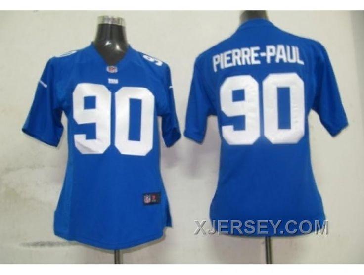 http://www.xjersey.com/nike-women-new-york-giants-90-pierrepaul-blue-jerseys-cheap.html NIKE WOMEN NEW YORK GIANTS #90 PIERRE-PAUL BLUE JERSEYS CHEAP Only $38.00 , Free Shipping!