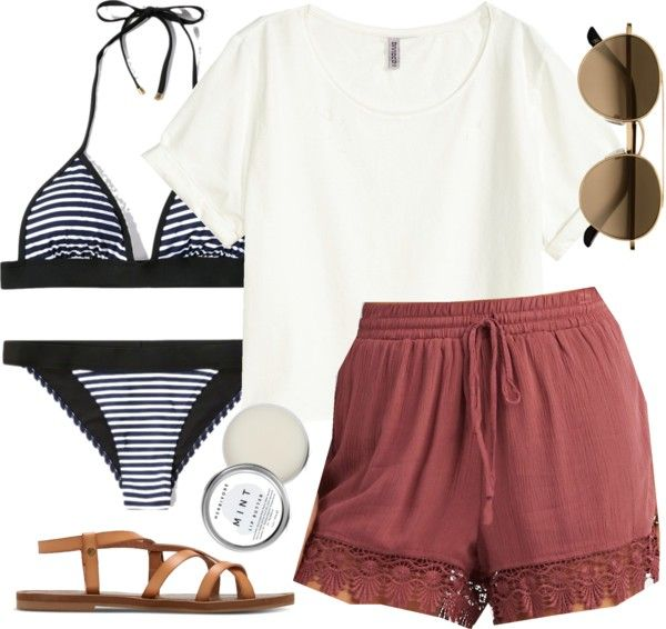 Spencer Hastings inspired pool day outfit por liarsstyle usando summer shoes                                                                                                                                                      More