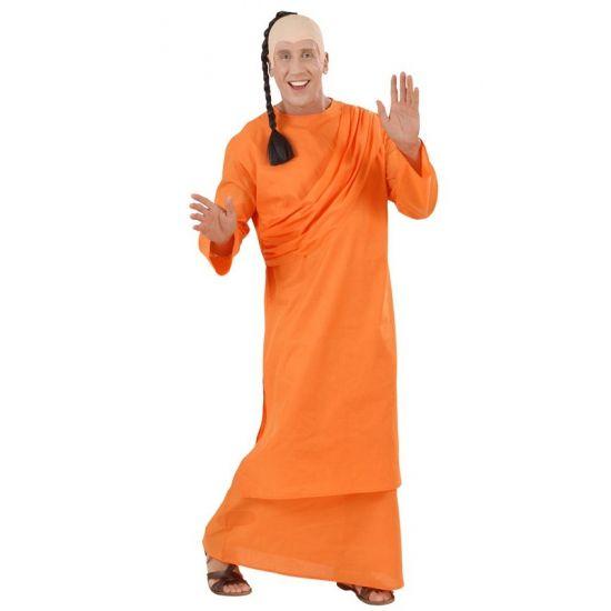 Tibetaanse monniken jurk  Tibetaanse monnik of Hare krishna kostuum bestaat uit een lange oranje jurk met schouder drapering. De pruik zit er niet bij maar is wel los te bestellen.  EUR 39.99  Meer informatie