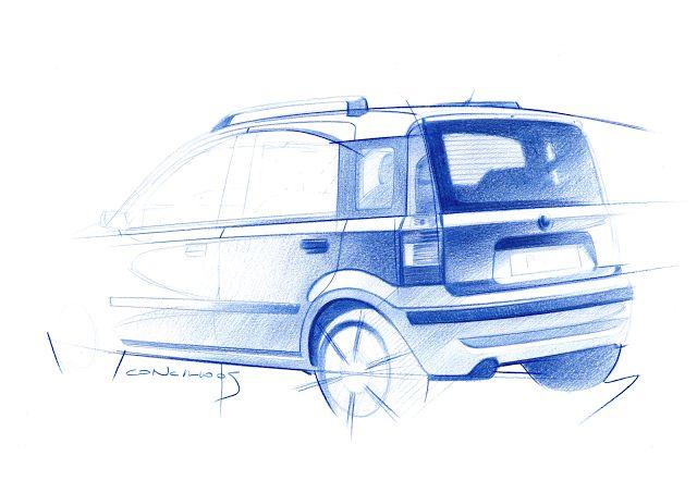 Sketchbook historic cars Pictures: Panda - Illustrazione