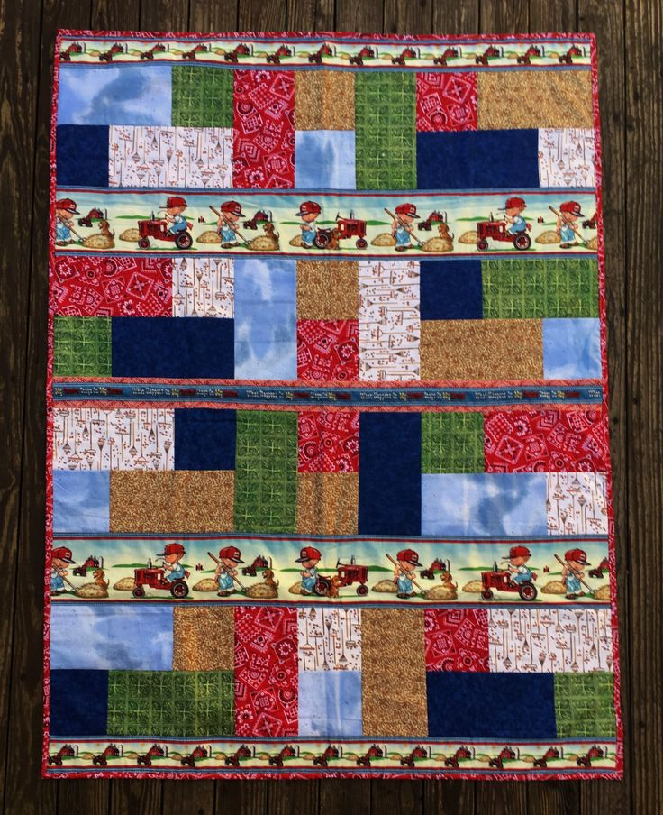 Best 25 tractor quilt ideas on pinterest baby quilt for International harvester room decor