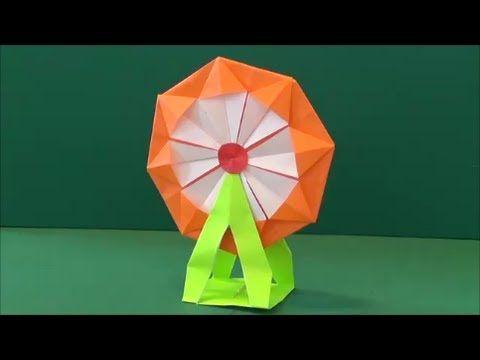 """「観覧車」折り紙""""Ferris wheel"""" origami - YouTube"""