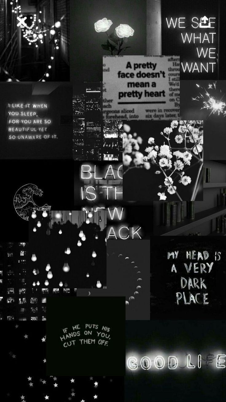 Aesthetic Black Lockscreen Wallpaper Tumblr Iphone# ...