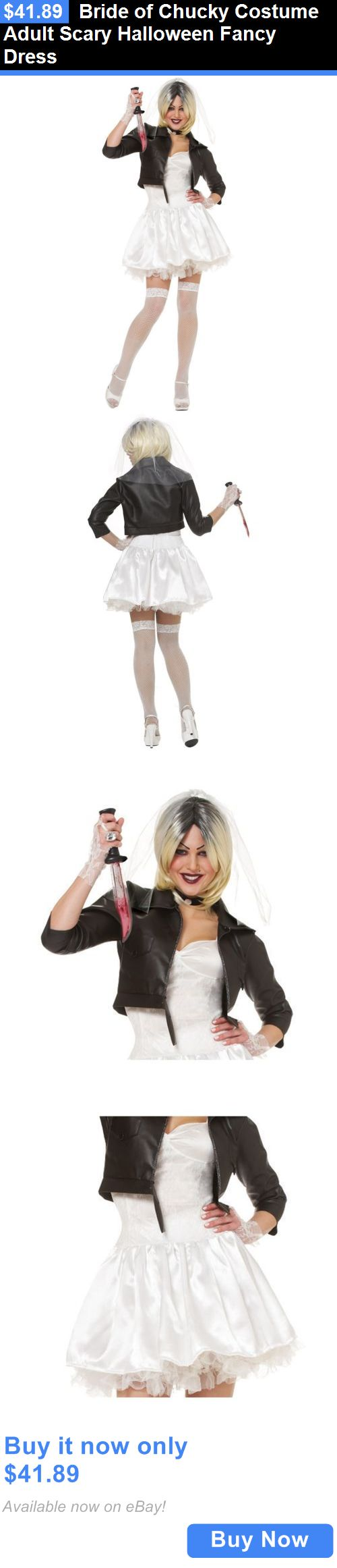 Halloween Costumes Women: Bride Of Chucky Costume Adult Scary Halloween Fancy Dress BUY IT NOW ONLY: $41.89