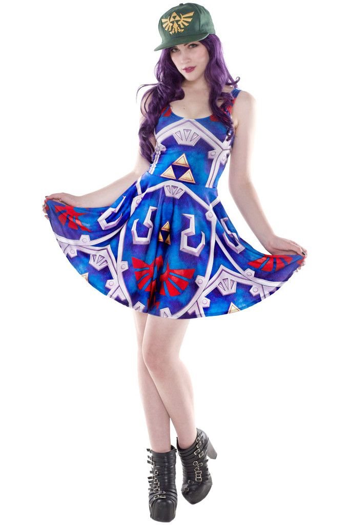 1c2960dae7fac Hylian Shield Skater | Living Dead Clothing | Nerd Fashion | Skater Dress,  Nerd fashion, Dresses