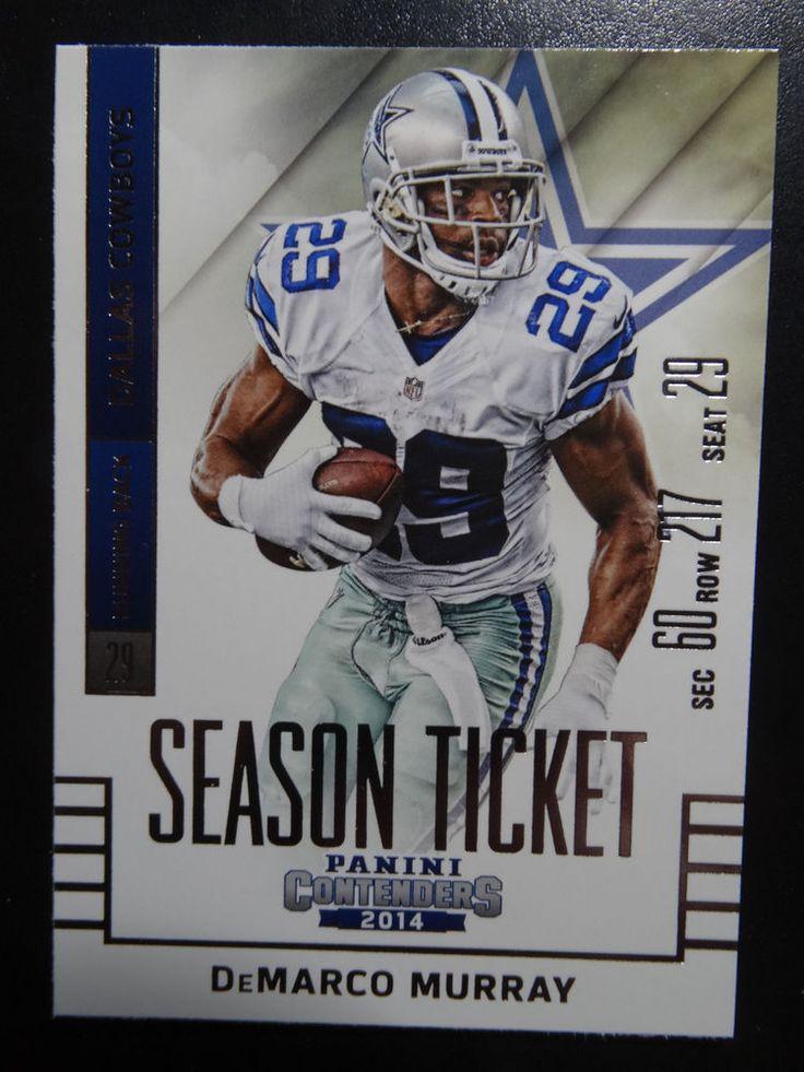 2014 Panini Contenders Season Ticket #36 DeMarco Murray Dallas Cowboys Card  #DallasCowboys