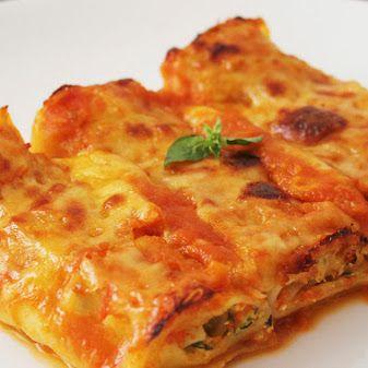 Rollos de lasagna rellenos de 3 quesos y zuchinni