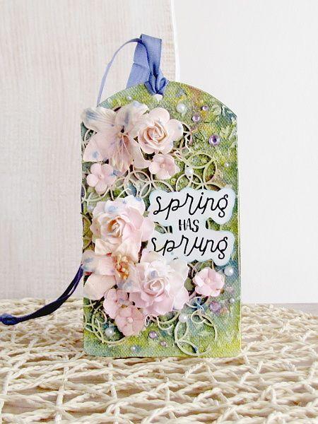 tag kwiaty na łące mixedmedia spring